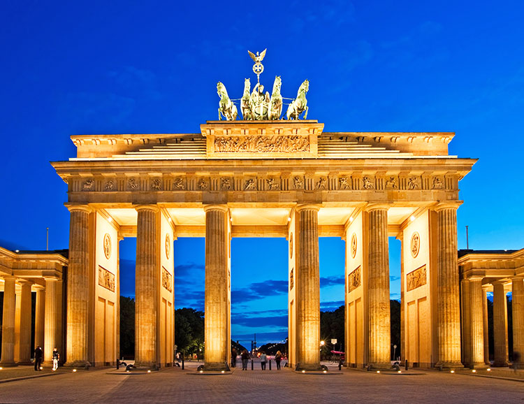 Abendliches Brandenburger Tor