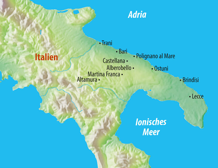 Apulien Karte Italien.Stuttgarter Zeitung Leserreisen Italien Apulien Das