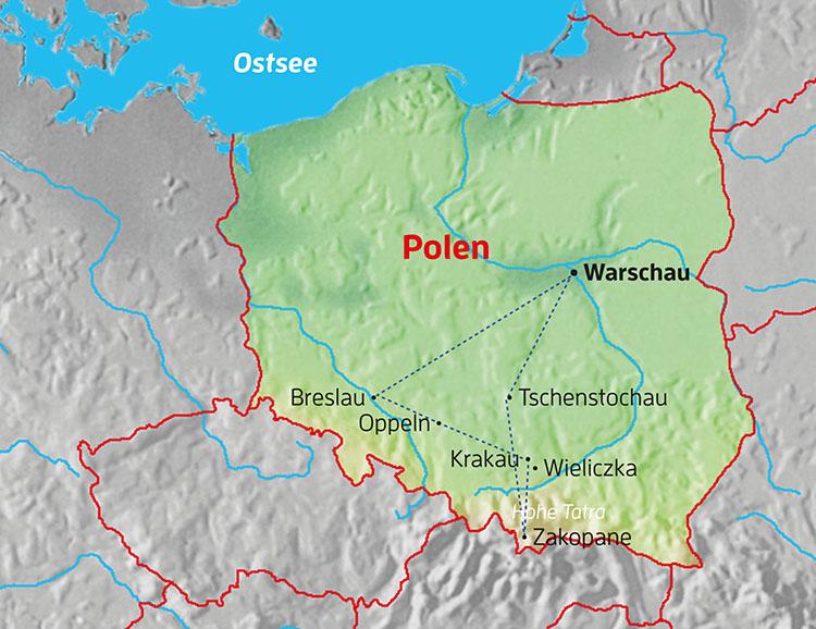 Polen Karte 2019.Stuttgarter Zeitung Leserreisen Polen Breslau Krakau