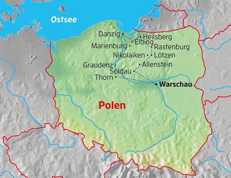 Wolfsschanze Karte.Stuttgarter Zeitung Leserreisen Polen Danzig Und
