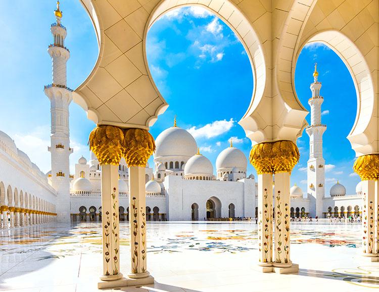 Sheikh-Zayed-Moschee in Abu Dhabi