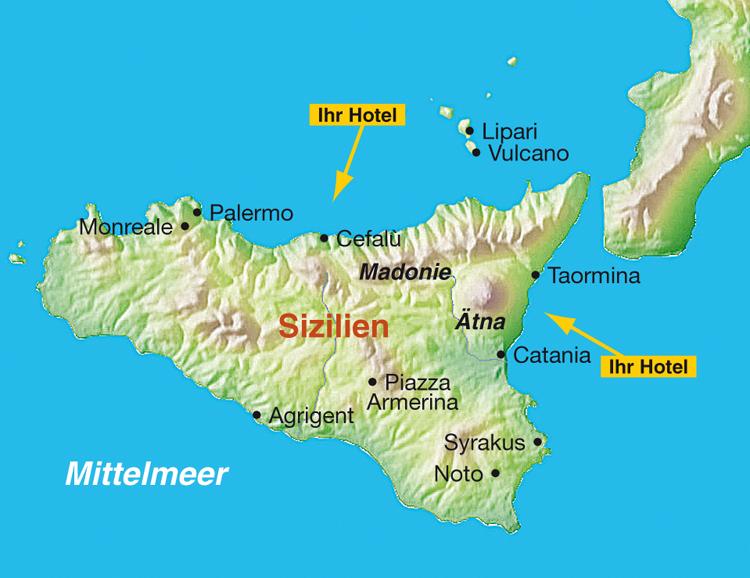 Sizilien Karte ätna.Stuttgarter Zeitung Leserreisen Italien Ursprüngliches Sizilien