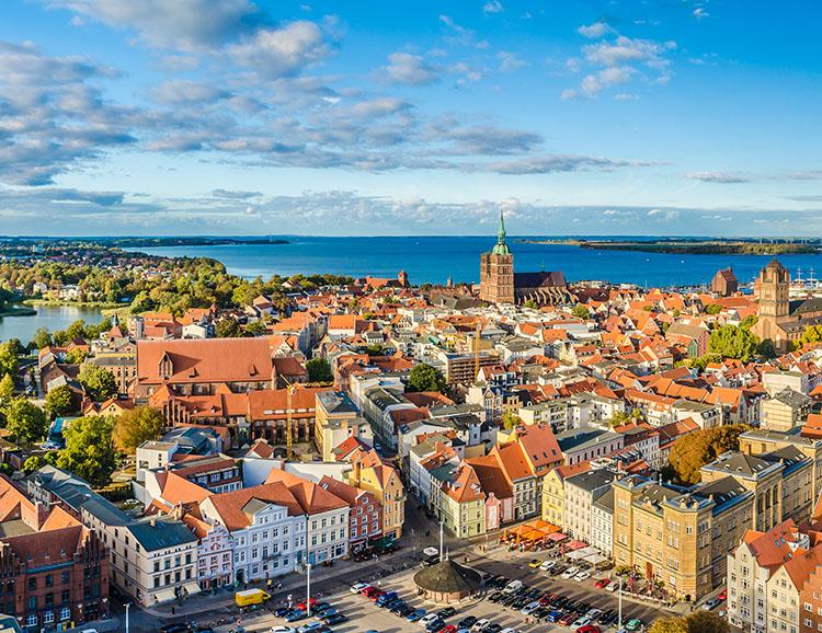 Blick über Stralsund