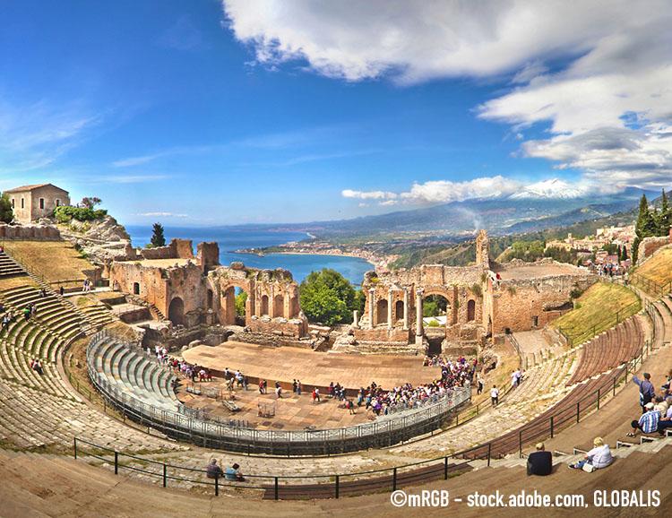 Das Freilichttheater in Taormina