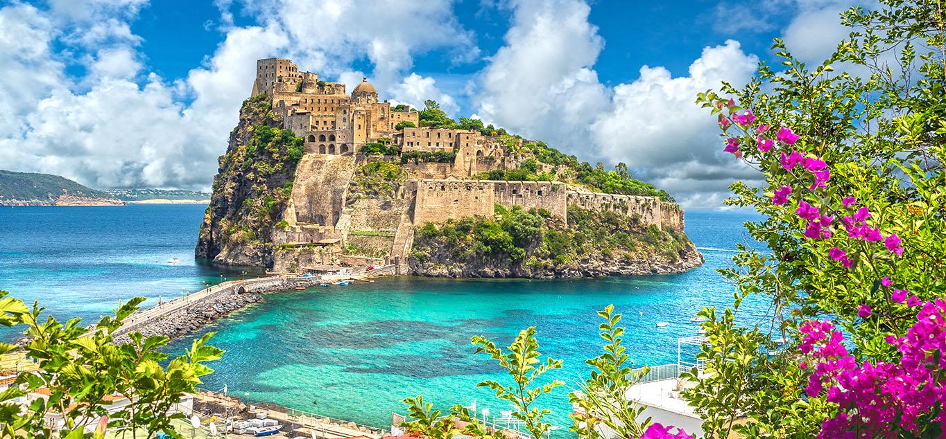 Italien - Ischia: Panoramaausblicke rund um den Golf von Neapel