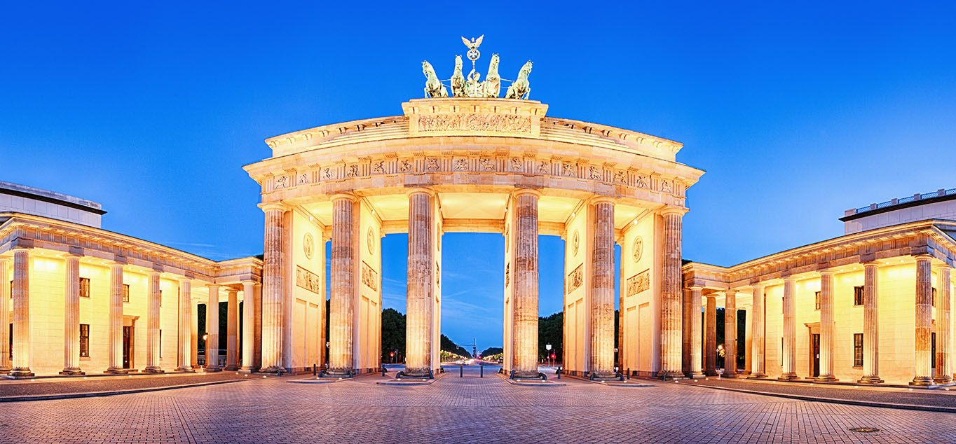 Abendliches Brandenburger Tor in Berlin