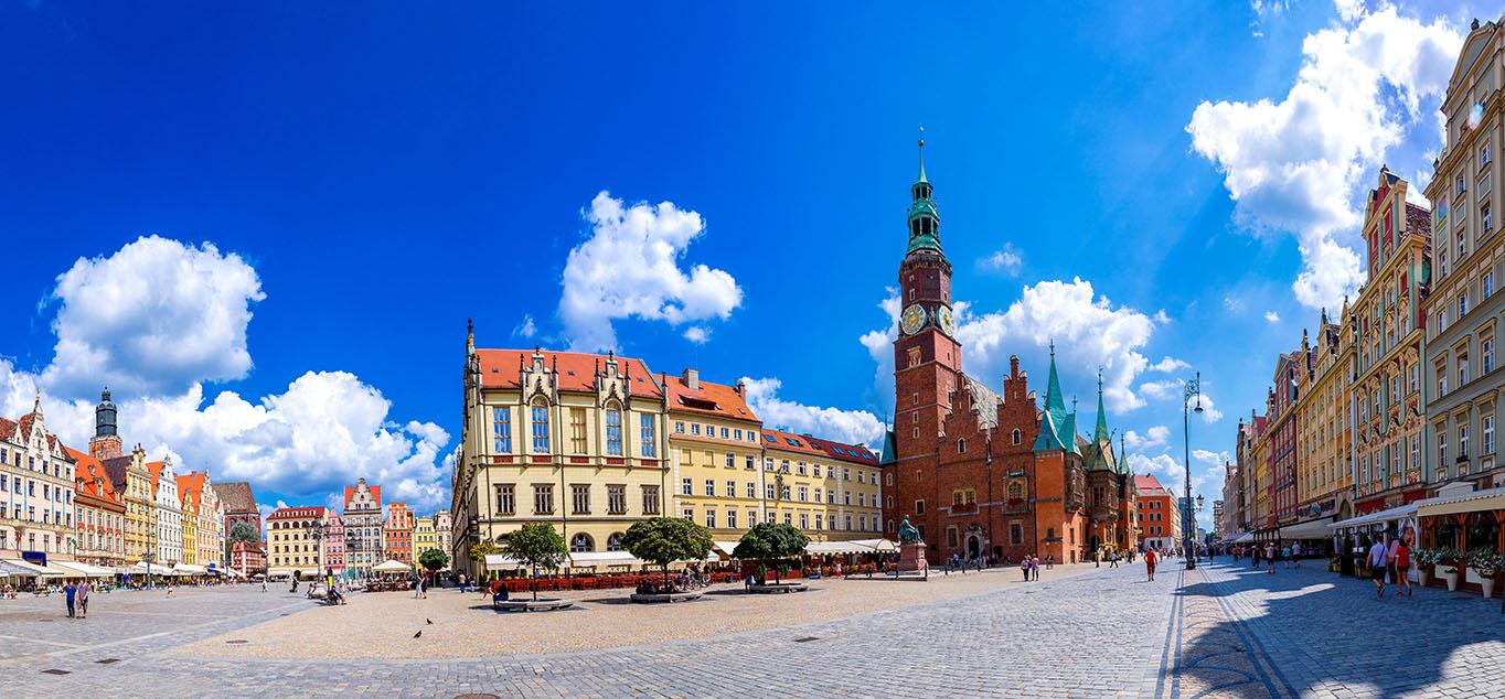 Städtedreieck im Süden Polens: Breslau, Warschau und Krakau
