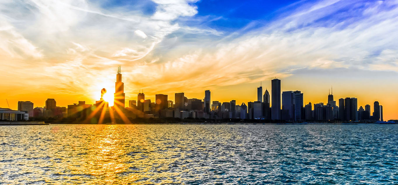 USA: Chicago - Stadt am See