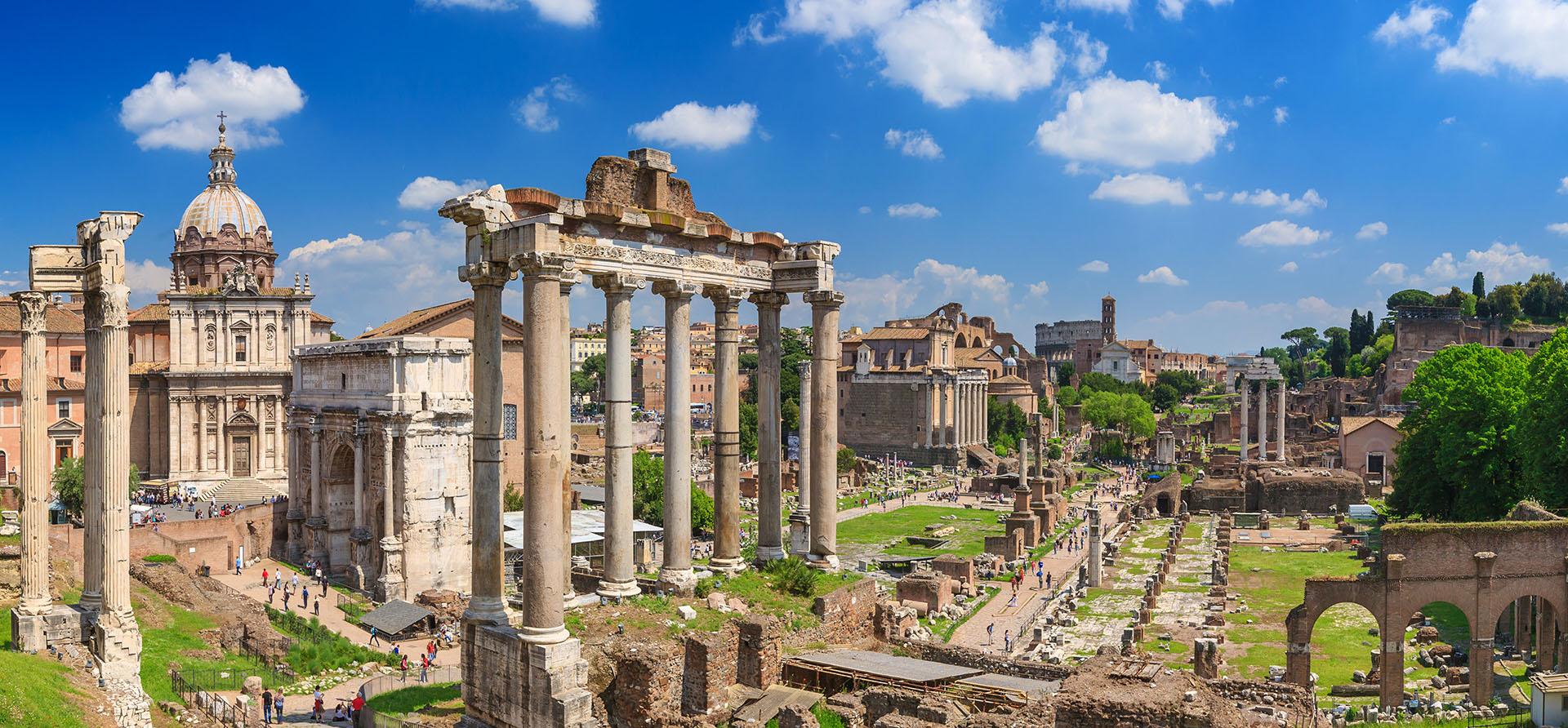 TBlick über das Forum Romanum