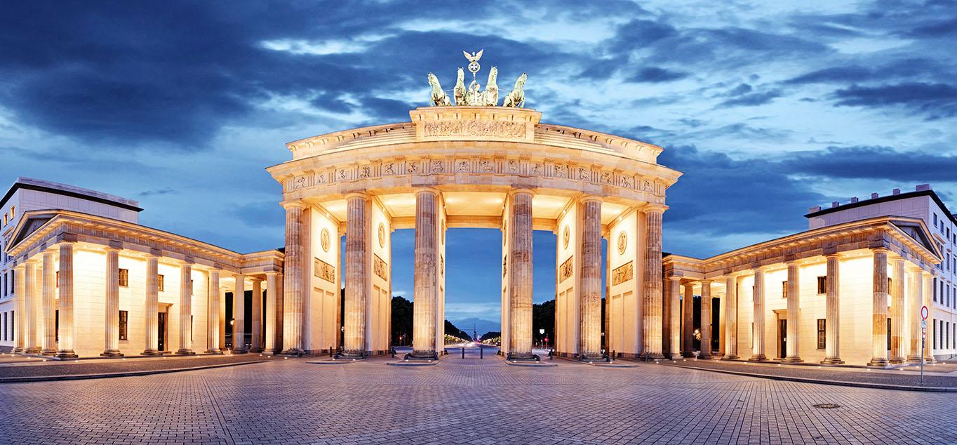 TAbendliches Brandenburger Tor