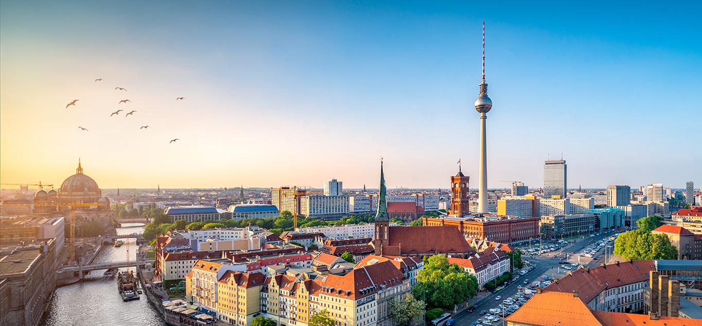 Panoramablick auf den Fernsehturm
