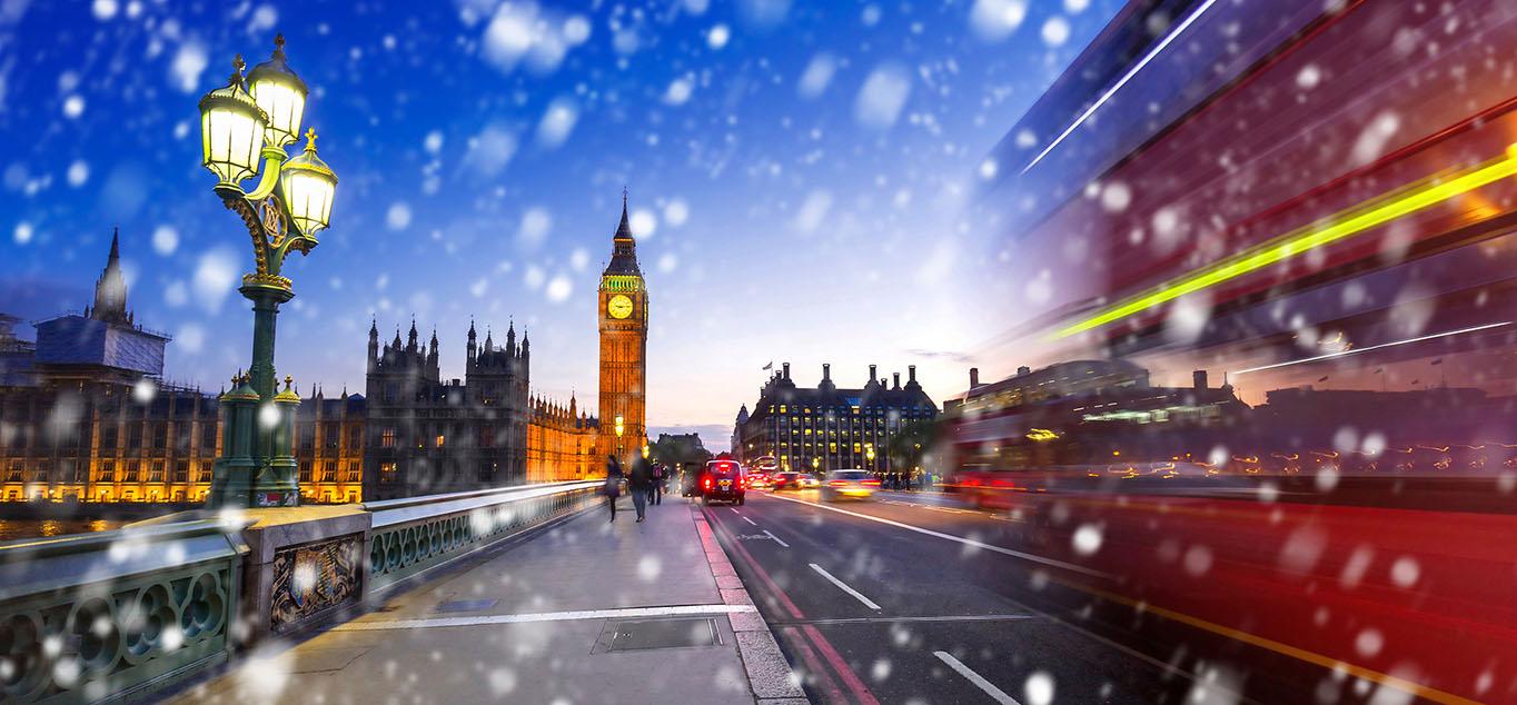 Blick auf den Big Ben im winterlichen London