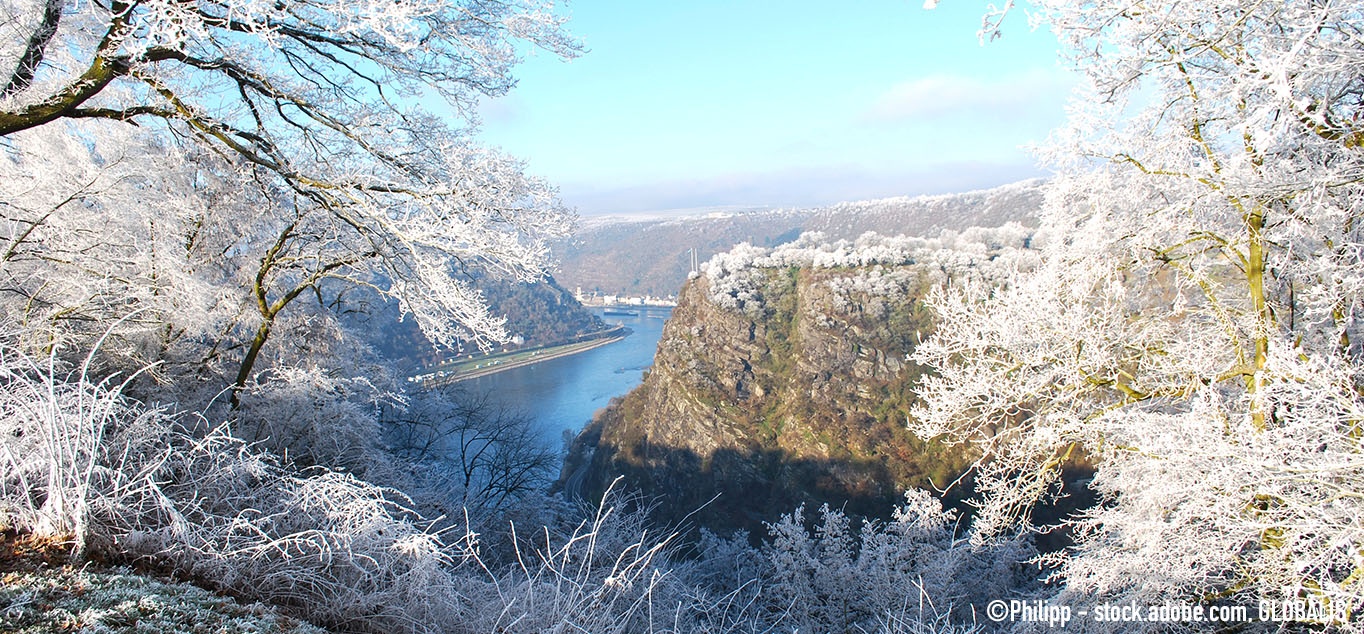 Winterliche Loreley-Strecke