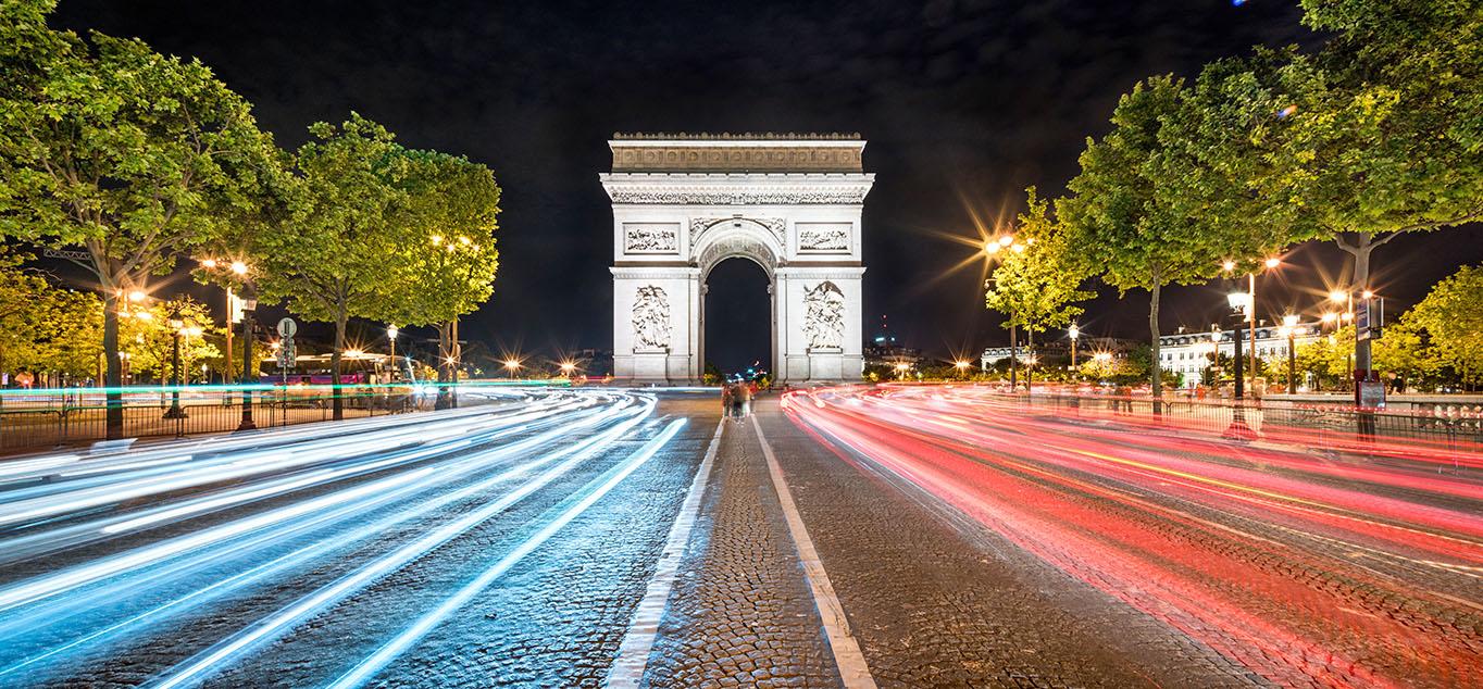 Lichterfahrt durch Paris