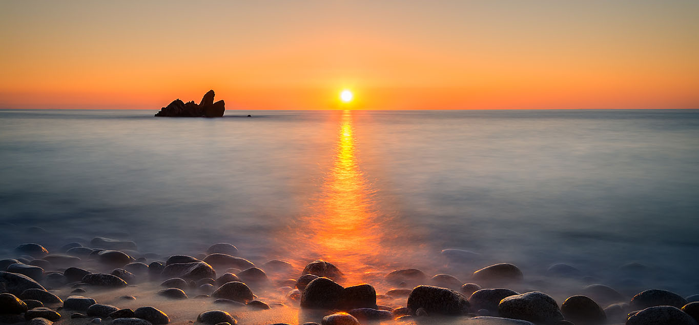Sonnenuntergang über der Meer bei Tropea