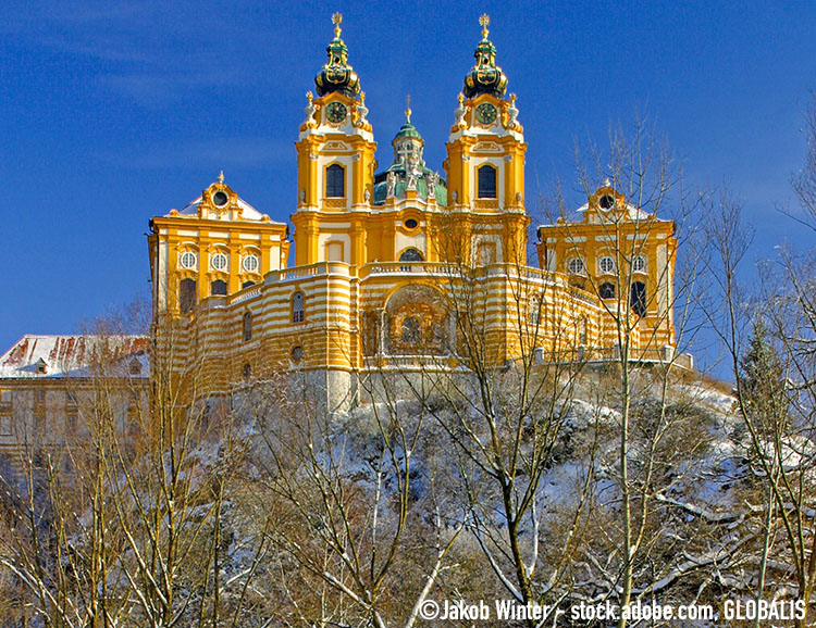 Winterliches Stift Melk